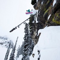 Jake Teuton Sending in Revelstoke.  Photo:  Patrick Orton