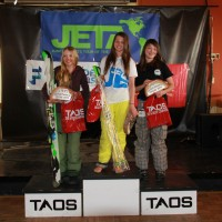 1st, Brittany Barefield of CBMST, 2nd, Eliza Donahue of Taos, 3rd, Abby Ward of Winter Park