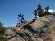 Ray and Will ride Rattlesnake in Hartmans. Photo: Ray Harter