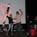 CFS Owner giving raffle winner Alex Reidman some new sticks