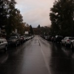 Rain forced the event indoors, but it was still kind of pretty out.