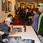 Athlete signings prior to the showing