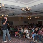 Two Plank co-founder Ben Somrak introducing Corey Tibljas