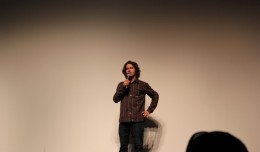 Jeremy Jones presenting the movie.