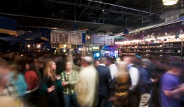 The crowd was buzzing with energy from beginning to end at the opening party for the Sweet Spot