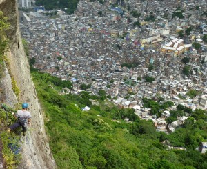 Asa looks over the Rochina favela from the two brothers.