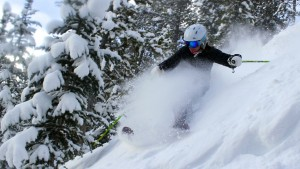 Brittany Barefield finding snow in East River at CBMR.  Photo: Will Dujardin