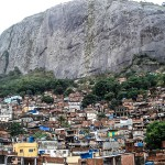 The Rocinha favela sits right at the base of the north face of the Two Brothers.