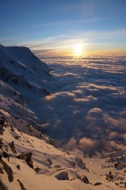 Sunset from Refuge des Cosmiques