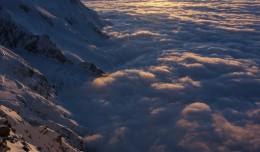 Sunset from Refuge des Cosmiques