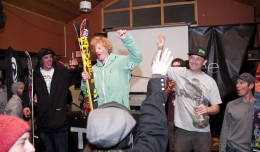 Male Ski Podium. Brandon Clabaugh (2nd), Ian Borgeson (1st), Garrett Altmann (3rd).  Trent Bona Photography