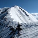 Ascending the ridge on Owen.