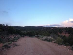 Top of Entrada Bluff Road