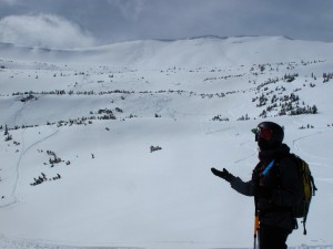 Post powder stoke in Red Lady bowl.