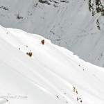 Zach Guy drops in by Yule Pass