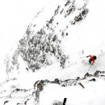 Scott Krankala descends a couloir off of Purple Ridge