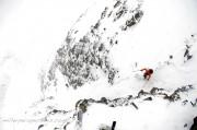 Scott Krankala descends a couloir off of Purple Ridge