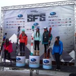 Crested Butte ladies on top of the JFT podium. Photo: Will Dujardin