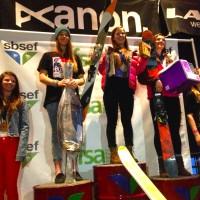 Women's 15-18 Podium: 1st) Jess Sterrett, 2nd) Andrea Byrne, 3) Edie Mason, 4) Brittany Barefield, 5) Josie Byron