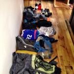 All my belongings until I add ski stuff.