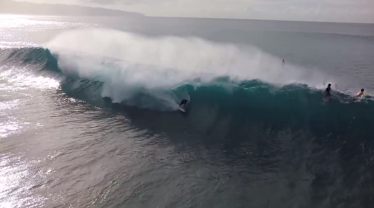 Drone Surf Footage From Banzai Pipeline West Elk