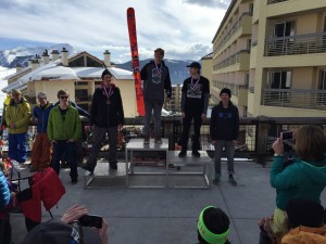 Peter Hunt earned himself 4th place amongst some ripping skiers.