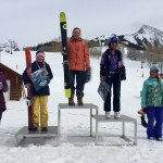 Austin Obourn topped the girls 12-14 Ski Podium with Maya Ordonez in 2nd, Alexandra Carey 3rd, Lydia Hagan 4th, and Violet Heisler in 5th.