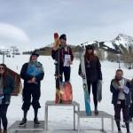 Elsa Smith won the 15-18 Ski Women with Morgan Westfall in 2nd, Jordan Glendining in 3rd, Rachel Cocchiarella in 4th, and Abby Ward in 5th.