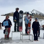 Noah Hagan took the 15-18 snowboard podium with Mikey Tuck in 2nd, Lucas Stanfield in 3rd, Adam Redling 4th, and Cole Miller in 5th.