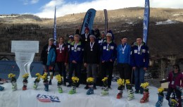 Tanner on top of the Rocky/Central U16 DH podium.