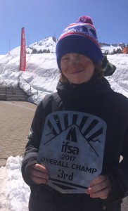 Brooks Hudson captured 3rd overall in 12-14 boys ski.