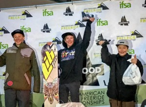 Dagan Schwartz won the 12-14 Boys Snowboard.