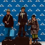 Rowen Downum and Marin Gardner in 1st and 2nd on the U12 ski boys podium at Vail.