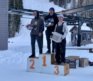 Cooper Wight in 3rd place at Telluride.