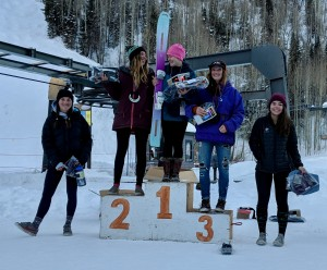Avery Bernholtz in 4th at Telluride.