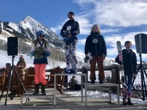 Zoe Hanna in 3rd for the 12-14 Ski Females.