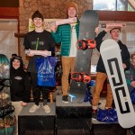 Dagan Schwartz in 3rd on the 15-18 Snowboard Male Podium.