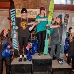 Avery Bernholtz on top of the 15-18 ski female podium.